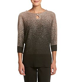 Notations® Petites' Ombre Crew Neck Dolman Sweater