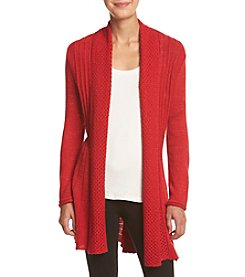 Studio Works® Petites' Lurex Metallic Open Front Cardigan