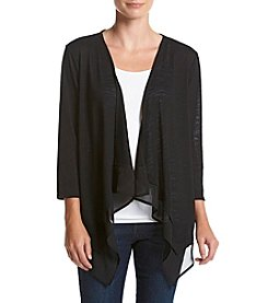 Studio Works® Petites' Chiffon Trim Cardigan