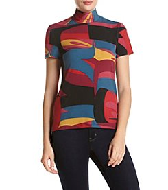 Anne Klein® Mock Neck Top