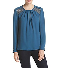 Anne Klein® Lace Trim Blouse