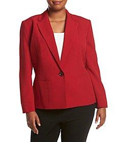 Kasper® Plus Size Solid One Button Jacket