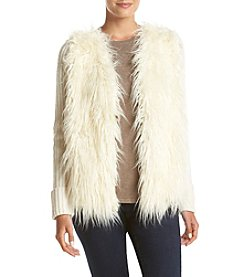 Jones New York® Faux Fur Front Sweater Cardigan
