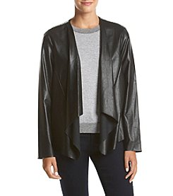 Cupio Textured Leather Jacket