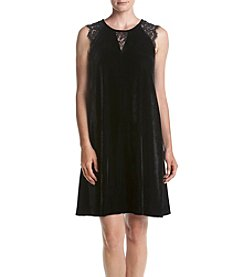 Relativity® Lace Trim Sharkbite Tunic Dress