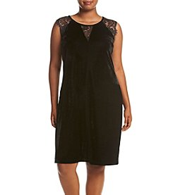 Relativity® Lace Trim Tunic Dress