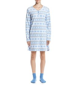Intimate Essentials® Slippers And Nightgown Set