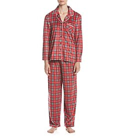 KN Karen Neuburger Printed Fleece Pajama Set