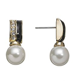 Anne Klein® Simulated Pearl Post Earrings
