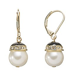 Anne Klein® Leverback Drop Earrings
