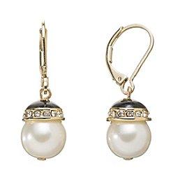 Anne Klein® Leverback Drop Earrings
