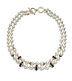 Anne Klein® Two Row Collar Necklace