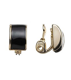 Anne Klein® Button Clip Earrings