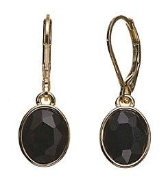 Anne Klein® Single Jet Stone Drop Earrings