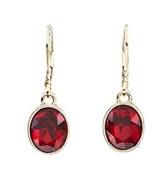 Anne Klein® Single Stone Drop Earrings