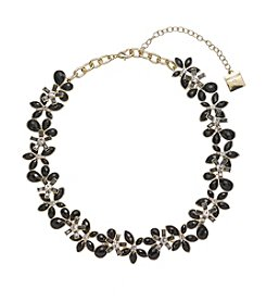 Anne Klein® Jet Flower Collar Necklace