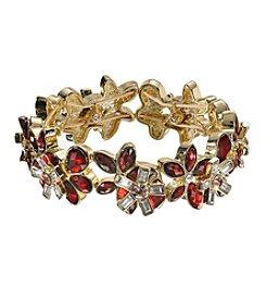 Anne Klein® Siam Flower Stretch Bracelet