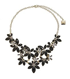 Anne Klein® Jet Flower Frontal Necklace