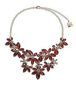 Anne Klein® Siam Flower Frontal Necklace