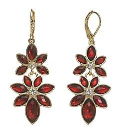Anne Klein® Siam Flower Drop Earrings