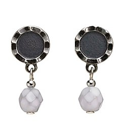 Silver Forest® Round Faceted Bead Drop Earrings