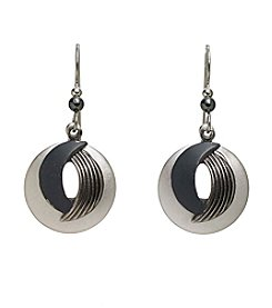 Silver Forest® Double Swoop And Circle Earrings