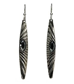 Silver Forest® Linear Hematite Stone Earring