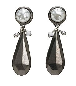 Silver Forest® Long And Linear Simulated Pearl Earrings