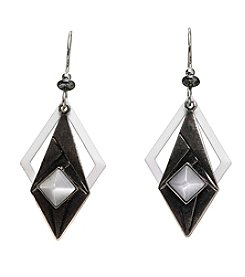 Silver Forest® Cateye And Geometric Shapes Earring