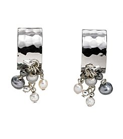 Silver Forest® Silver Hoop With Drops Earring