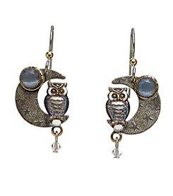 Silver Forest® Owl On Moon Earrings