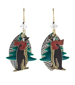 Silver Forest® Holiday Penguin Earrings