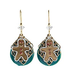 Silver Forest® Gingerbread Man Earrings