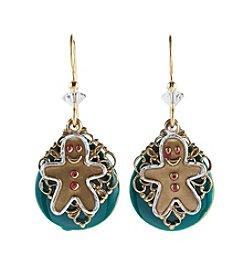 Silver Forest® Gingerbread Man Earrings