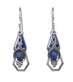 Silver Forest® Blue Vintage Drop Earrings