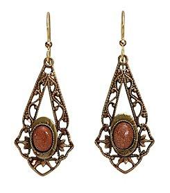 Silver Forest® Goldtone Filigree Earrings