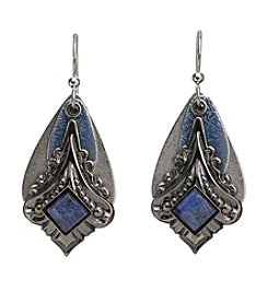 Silver Forest® Vintage Blue Layered Earrings