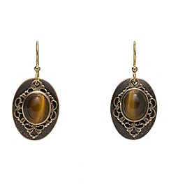 Silver Forest® Filigree and Tiger's Eye Earrings