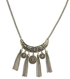 Ruff Hewn Crescent Fringe Necklace