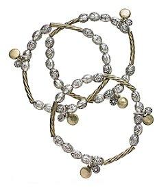 Ruff Hewn Stretch Two Tone Bracelets Set