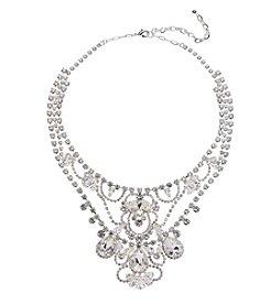 BT-Jeweled Crystal Rhinestone Statement Necklace