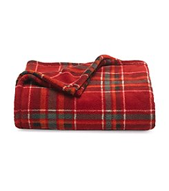 LivingQuarters Autumn Plaid Micro Cozy Throw
