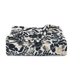 LivingQuarters Leopard Patch Micro Cozy Throw