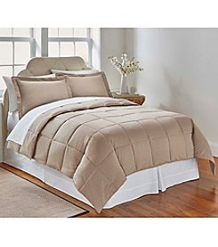 LivingQuarters Reversible Microfiber Down Alternative Trellis Embossed Comforter