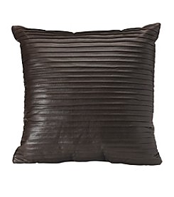 Faux Leather Brown Decorative Pillow