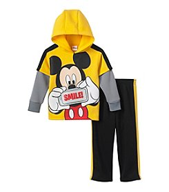 Disney® Boys' 2T-4T 2-Piece Layered Mickey Hoodie Set