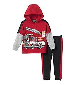 Nannette® Boys' 2T-4T 2-Piece Firetruck Hoodie Set