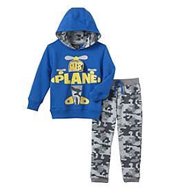 Nannette® Boys' 2T-4T 2-Piece Airplane Hoodie Set