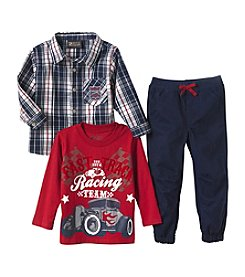 Nannette® Boys' 2T-4T 3-Piece Racing Team Tee Set
