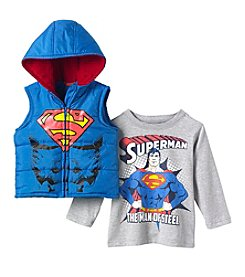Superman® Boys' 4-7 2-Piece Superman Vest Set